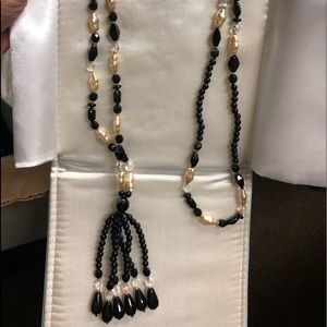 Ross Simons necklace onyx and pearl
